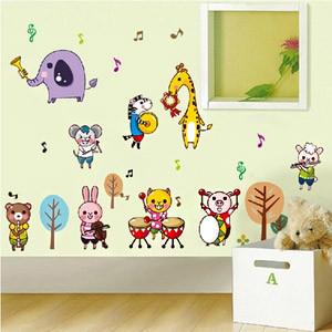 幼儿园教室布置墙面装饰贴画卧室儿童房卡通动物可移