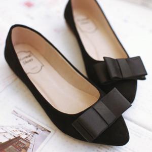 蝴蝶结单鞋OL性感瓢鞋大码女鞋