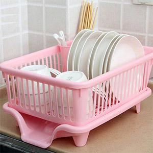 塑料单层沥水碗架