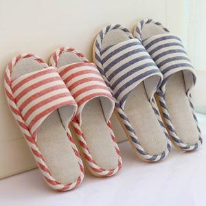 亚麻日式拖鞋