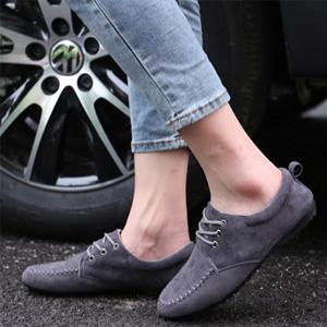 男士透气豆豆鞋磨砂低帮休闲鞋