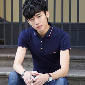 夏季男T恤新款韩版polo衫