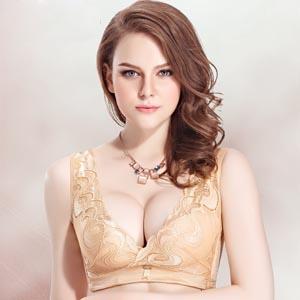 蕾丝小胸四排扣胸罩
