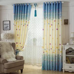 飘窗半遮光布卧室窗帘