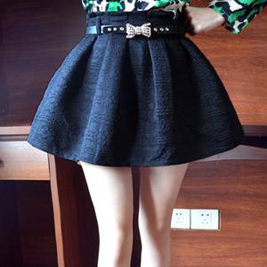 短裙半身裙子高腰伞裙