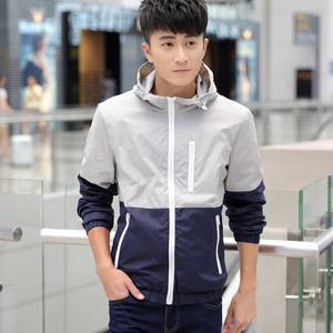 韩版修身皮夹克