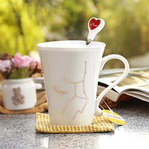 创意陶瓷星座杯