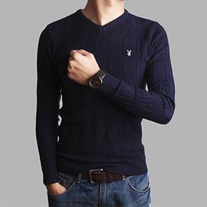 秋冬青年长袖针织衫