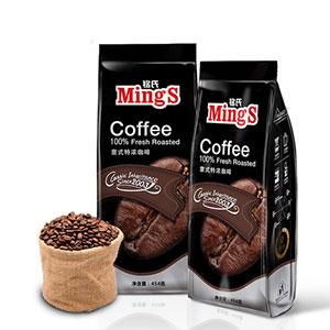 Mings意大利特浓咖啡豆454g